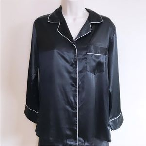 Tops - Black/White Pajama Shirt